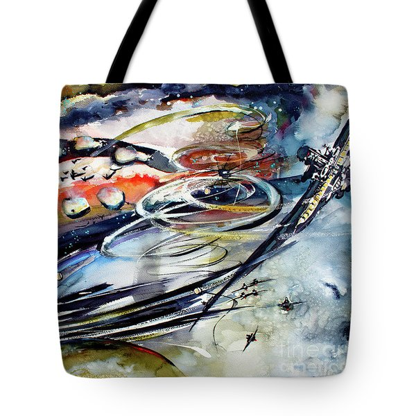 Modern Art Travel Log 05 Dec 9 2017 Tote Bag