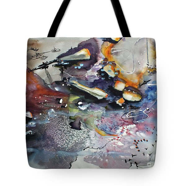 Modern Art Travel Log 03 Dec 7 2017 Tote Bag