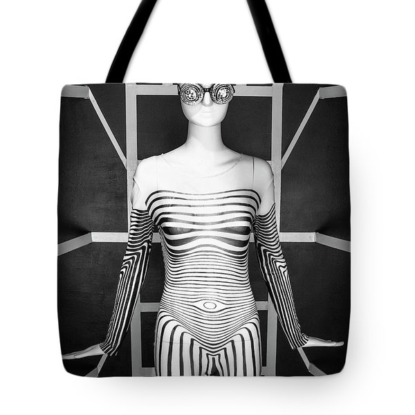 Modern Black And White Tote Bag by Scott Meyer