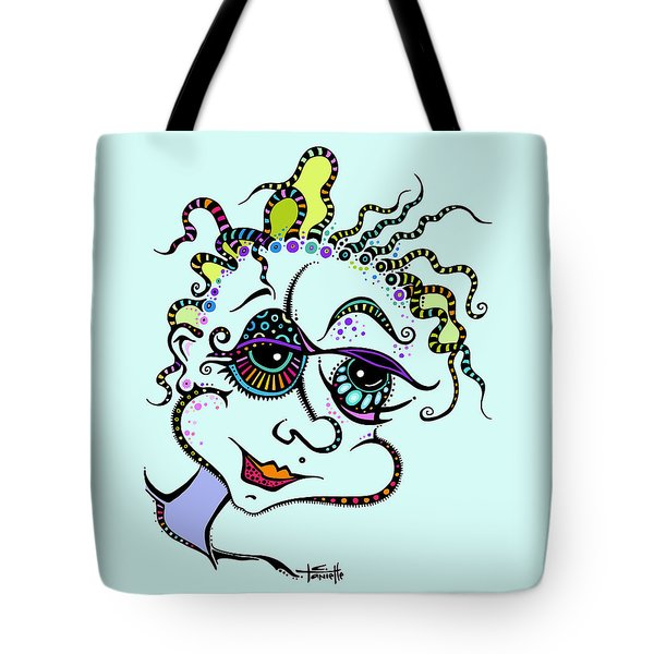 Tote Bag featuring the drawing Modern Day Medusa by Tanielle Childers