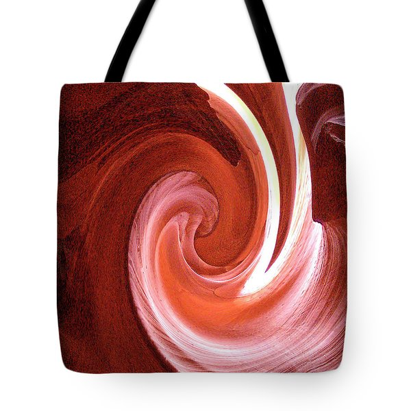 Tote Bag featuring the digital art Modern Digital Photo-painting Of Antelope Slot Canyon Sandstone Wall by Merton Allen