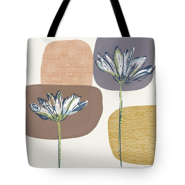 Modern Fall Floral 1- Art By Linda Woods Tote Bag