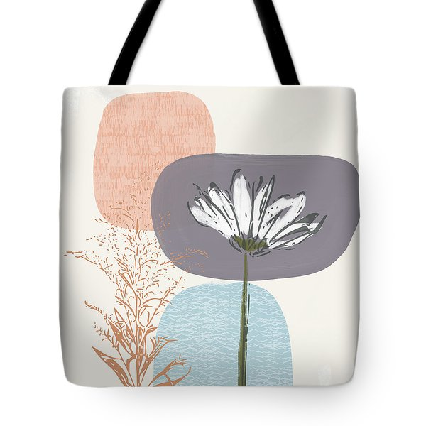 Modern Fall Floral 2- Art By Linda Woods Tote Bag