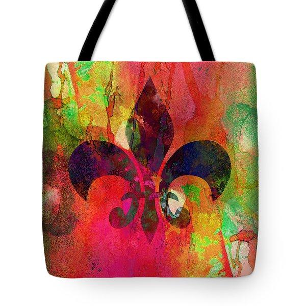 Modern Fleur De Lys Tote Bag