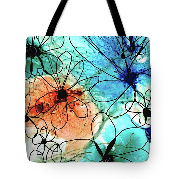 Modern Floral Art - Wild Flowers2 - Sharon Cummings Tote Bag