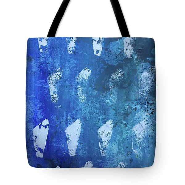 Tote Bag featuring the painting Modern Fossil by Robin Maria Pedrero