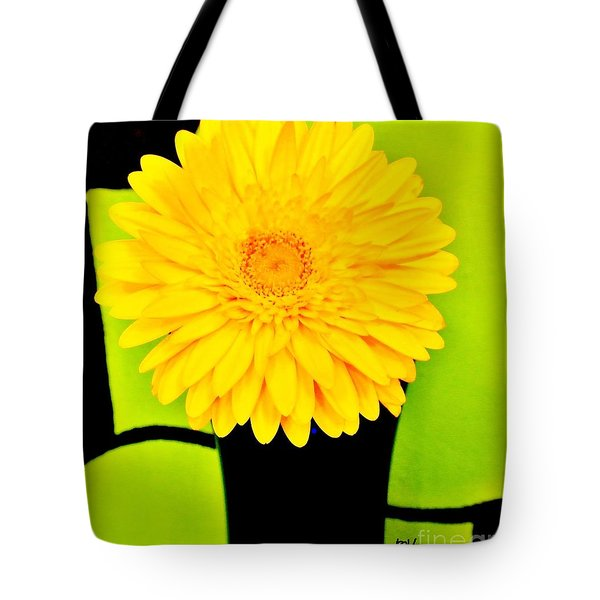 Tote Bag featuring the photograph Modern Gerber by Marsha Heiken