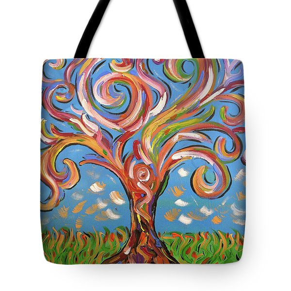 Tote Bag featuring the painting Modern Impasto Expressionist Painting  by Gioia Albano