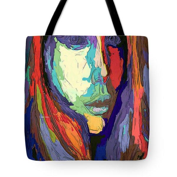 Tote Bag featuring the digital art Modern Impressionist Female Portrait by Rafael Salazar
