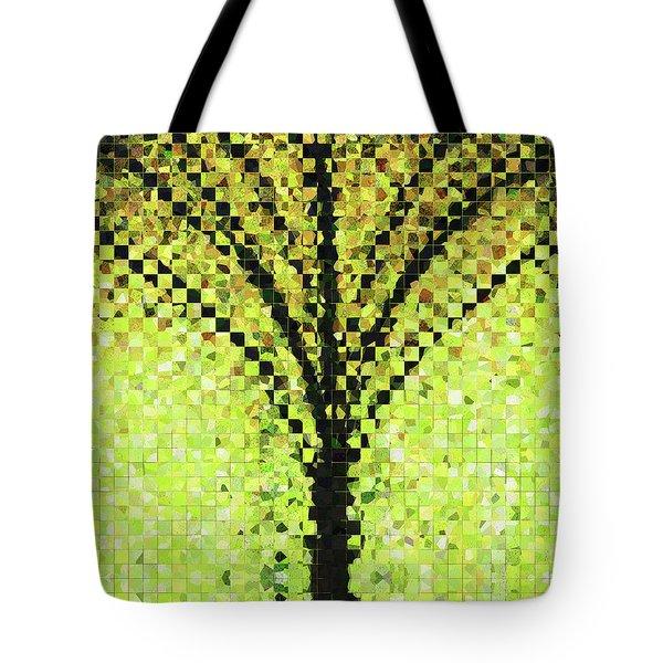 Modern Landscape Art - Pieces 10 - Sharon Cummings Tote Bag by Sharon Cummings