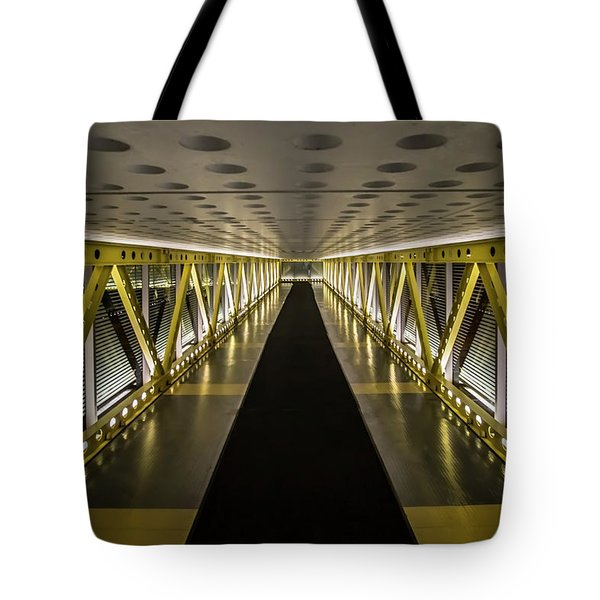 modern looking pedway in Chicago Tote Bag