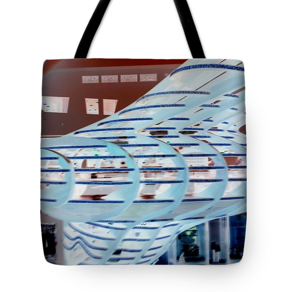 Ghostly Shopping Mall Tote Bag
