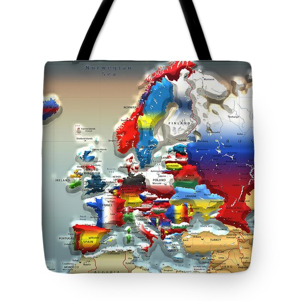 Modern Portrait Of Modern Europe - 3d Tote Bag