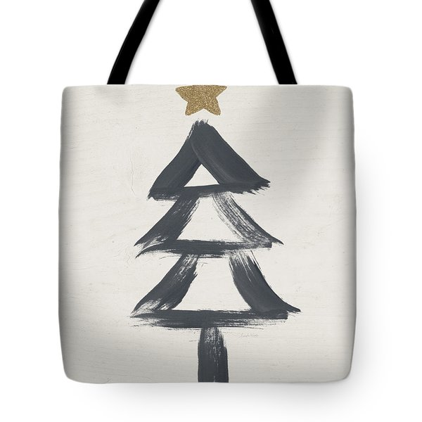Modern Primitive Black And Gold Tree 2- Art By Linda Woods Tote Bag