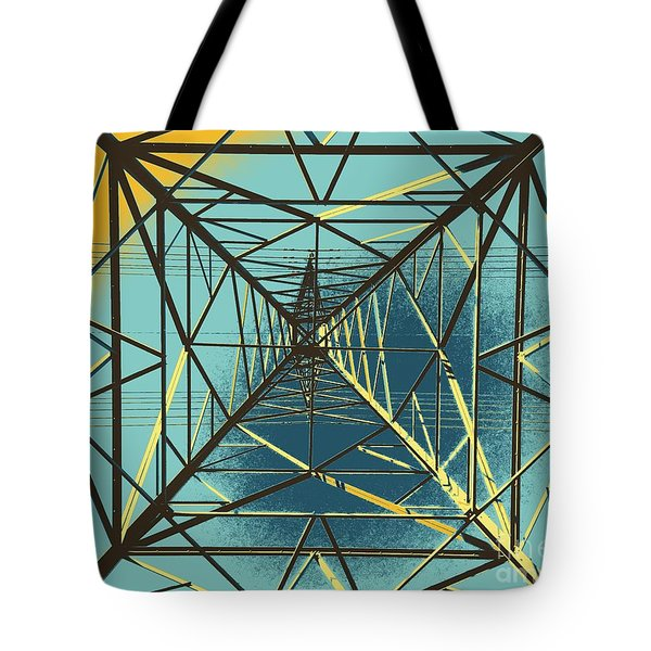 Modern Pyramid Tote Bag