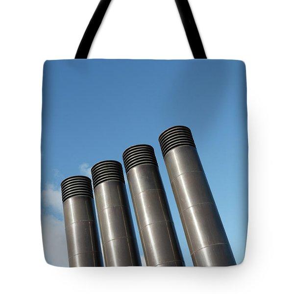 Modern Restaurant Chimneys Tote Bag by Gaspar Avila