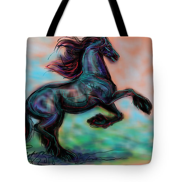 Modern Royal Friesian Tote Bag