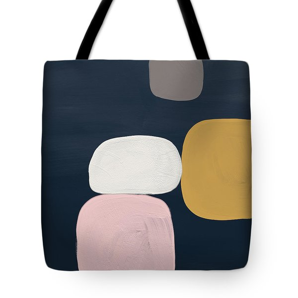 Modern Stones Navy 2- Art By Linda Woods Tote Bag