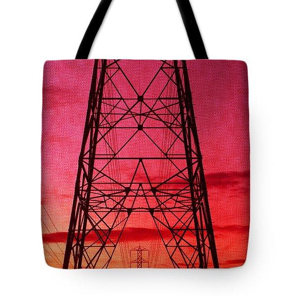 Modern Sunset Tote Bag