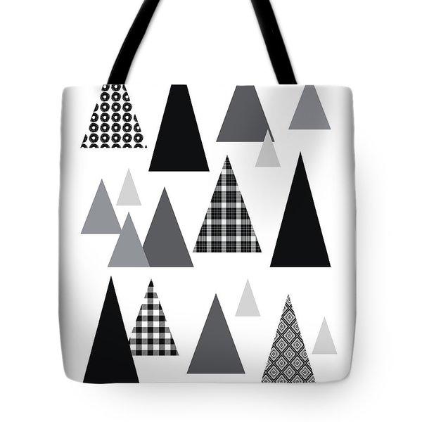 Modern Triangle Trees- Art By Linda Woods Tote Bag