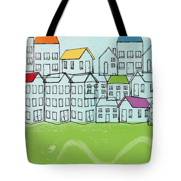Modern Village Tote Bag