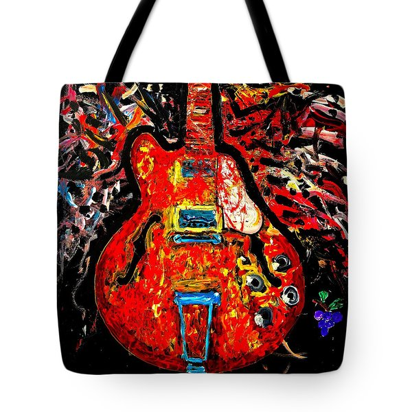 Modern Vintage Guitar Tote Bag
