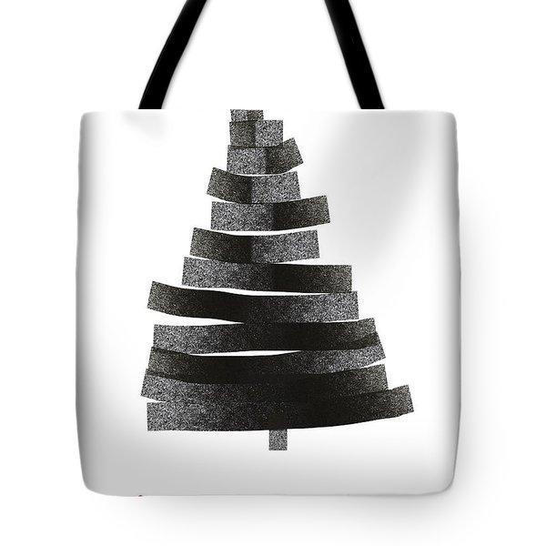 Modern Winter Tree- Season's Greetings Art By Linda Woods Tote Bag