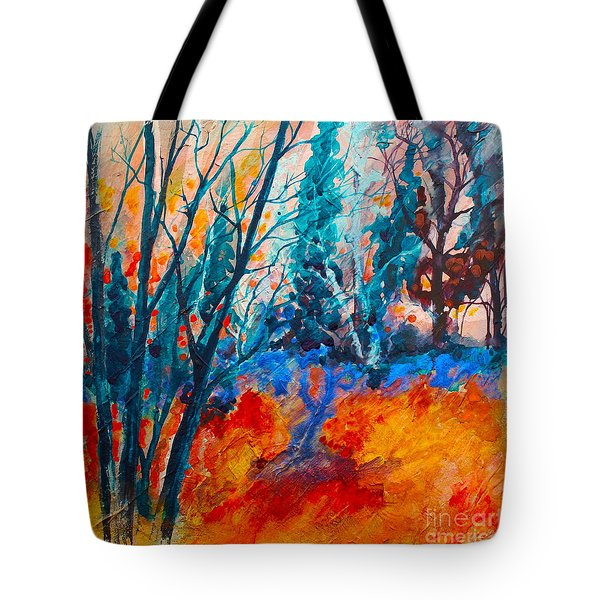 Modern Woods Tote Bag