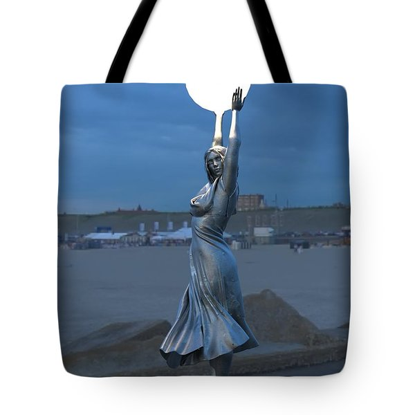 Modernist Lamppost At Night Tote Bag