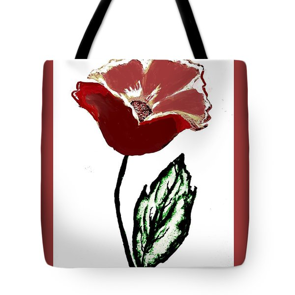 Tote Bag featuring the drawing Modernized Flower by Marsha Heiken