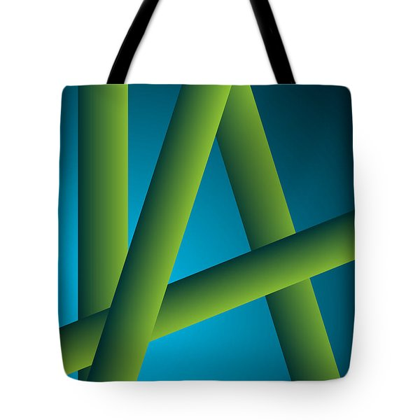 Tote Bag featuring the digital art Modus by Leo Symon