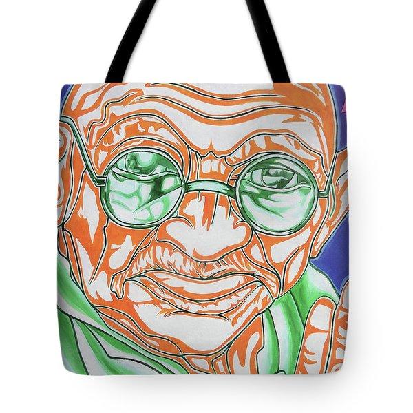 Tote Bag featuring the photograph Mohandas Karamchand Gandhi  by Juergen Weiss