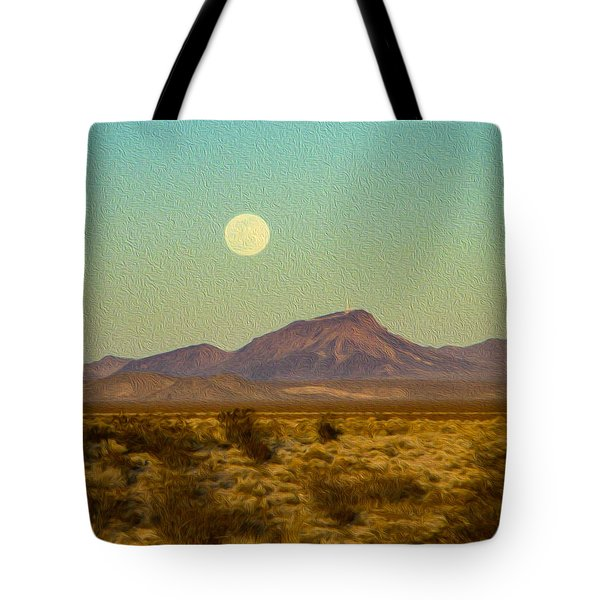 Mohave Desert Moon Tote Bag