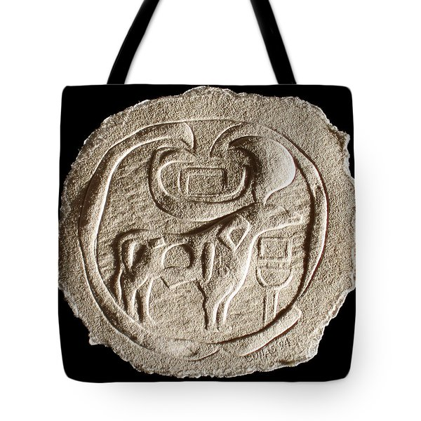 Tote Bag featuring the relief Mohenjodaro Seal by Suhas Tavkar