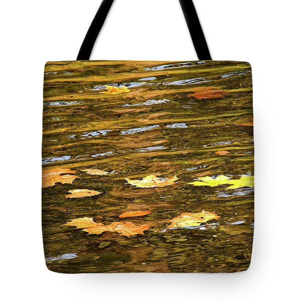 Mohican River Leaves Tote Bag