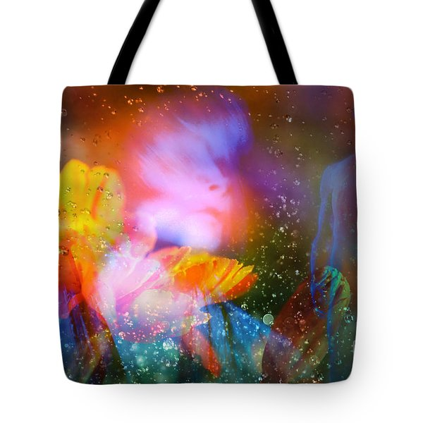 Tote Bag featuring the digital art Moist Dream Vision  by Rosa Cobos