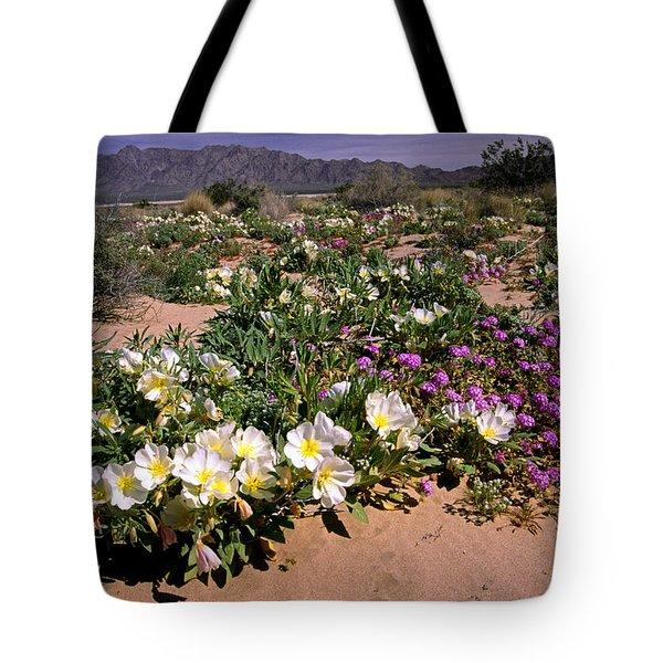 Mojave Desert In California Tote Bag