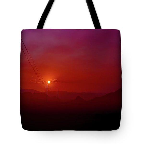 Mojave Sunrise Tote Bag by Mark Dunton