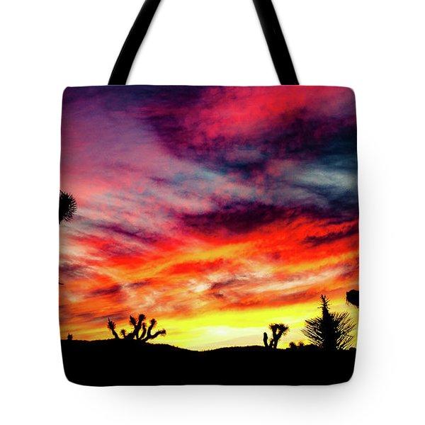 Mojave Sunset Tote Bag