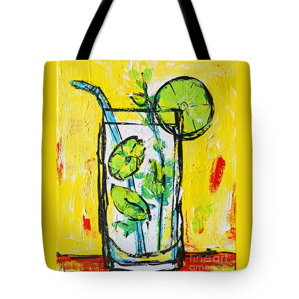 Mojito - Latin Tropical Drink Modern Art Tote Bag