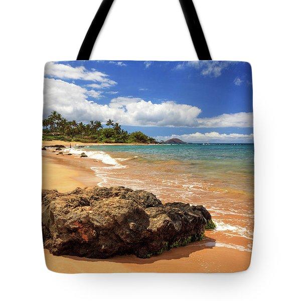 Mokapu Beach Maui Tote Bag by James Eddy
