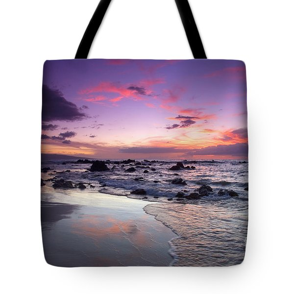 Mokapu Beach Sunset Tote Bag by Ron Dahlquist - Printscapes