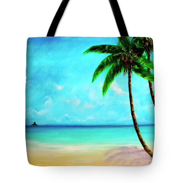 Mokolii Chinamans Hat From Waiahole Beach Park #280 Tote Bag by Donald k Hall
