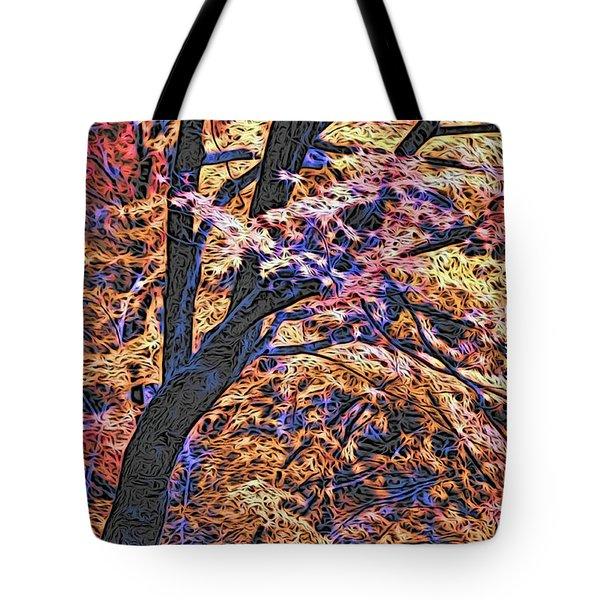 Moku Hanga Autumn Tote Bag