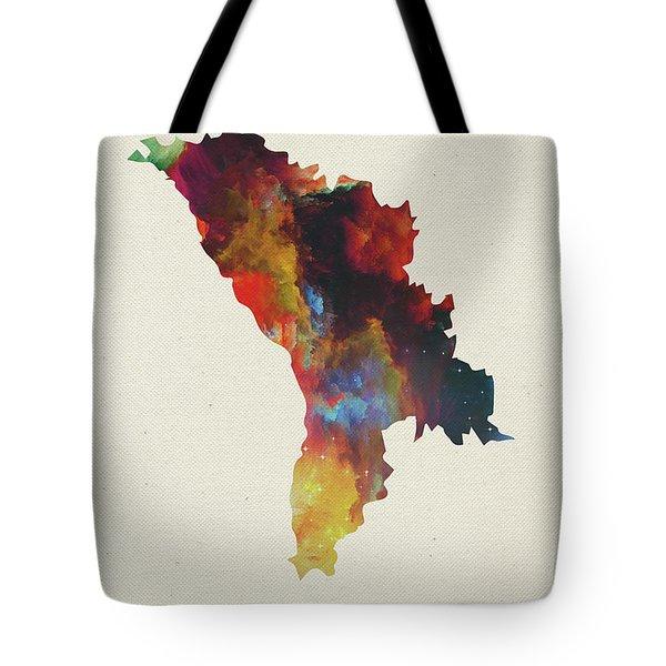 Moldova Watercolor Map Tote Bag