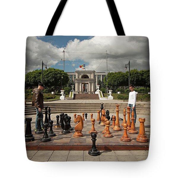 Moldovan Chess Tote Bag