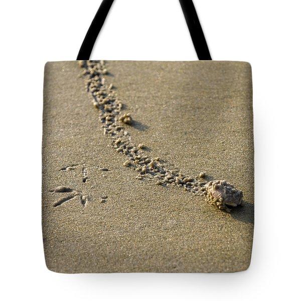 Mole Crab On The Move Tote Bag