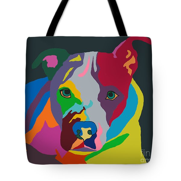 Tote Bag featuring the painting Molly Psychedelic by Ania M Milo