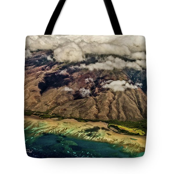 Tote Bag featuring the photograph Molokai From The Sky by Joann Copeland-Paul