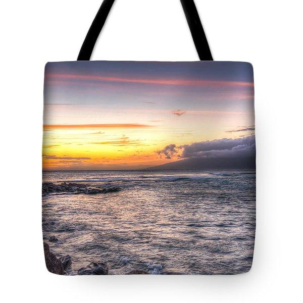 Molokai Sunset Tote Bag